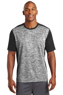 Sport-Tek® PosiCharge® Electric Heather Colorblock Tee.-