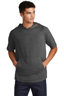 Sport-Tek ® PosiCharge ® Tri-Blend Wicking Short Sleeve Hoodie.-