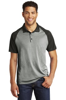 Sport-Tek ® PosiCharge ® RacerMesh ® Raglan Heather Block Polo.-