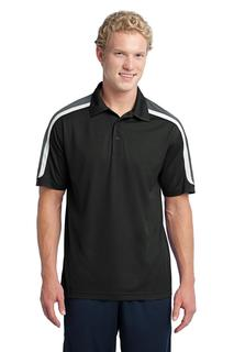 Sport-Tek Tricolor Shoulder Micropique Sport-Wick Polo.-