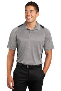 Sport-Tek Heather Colorblock Contender Polo.-