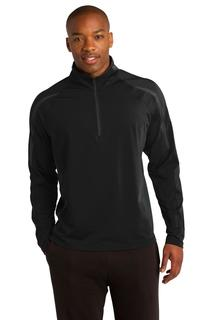 Sport-Tek® Sport-Wick® Stretch 1/2-Zip Colorblock Pullover.-