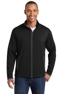 Sport-Tek Sport-Wick Stretch Contrast Full-Zip Jacket.-