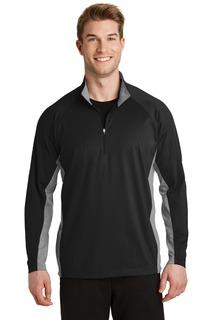 Sport-Tek® Sport-Wick® Stretch Contrast 1/2-Zip Pullover.-