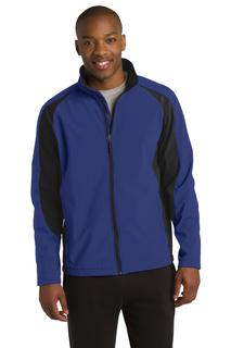 Sport-Tek Colorblock Soft Shell Jacket.-