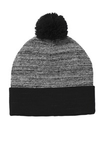 Sport-Tek Heather Pom Pom Beanie-