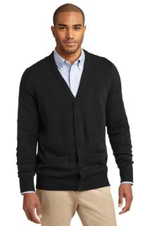 Port Authority® Value V-Neck Cardigan Sweater with Pockets.-Port Authority