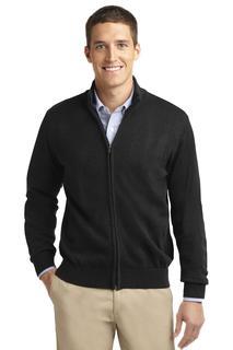 Port Authority® Value Full-Zip Mock Neck Sweater.