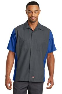 Red Kap® Short Sleeve Ripstop Crew Shirt.