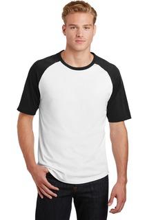 Sport-Tek® Short Sleeve Colorblock Raglan Jersey.-Sport-Tek