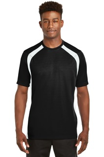Sport-Tek Activewear T-Shirts for Hospitality ® Dry Zone® Colorblock Crew.-Sport-Tek