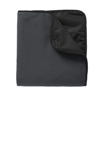 Port Authority® Fleece & Poly Travel Blanket.-Port Authority