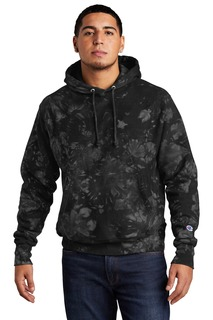 Champion Reverse Weave Scrunch-Dye Tie-Dye Hooded Sweatshirt.-Port Authority