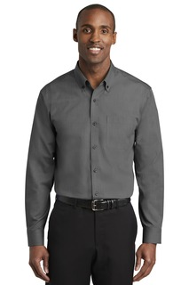 Red House Hospitality Tall Woven Shirts ® Tall Nailhead Non-Iron Shirt.-Red House