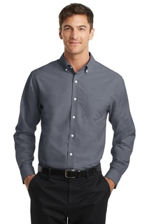 Port Authority Hospitality Tall Woven Shirts ® Tall SuperPro Oxford Shirt.-Port Authority