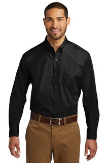 Port Authority Tall Long Sleeve Carefree Poplin Shirt.-