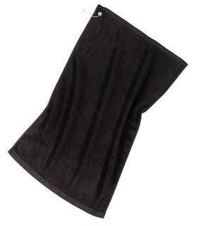 Port Authority® Grommeted Golf Towel.-Port Authority