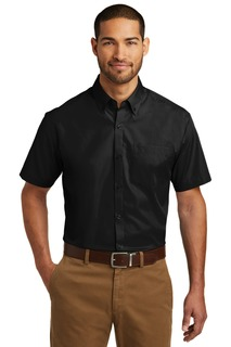 Port Authority Short Sleeve Carefree Poplin Shirt.-