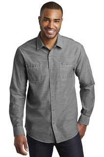 Port Authority® Slub Chambray Shirt.-Port Authority