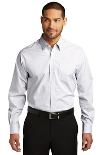 Port Authority Woven Shirts for Hospitality ® Micro Tattersall Easy Care Shirt.-Port Authority