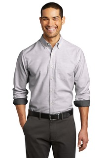 Port Authority ® SuperPro Oxford Stripe Shirt.-Port Authority