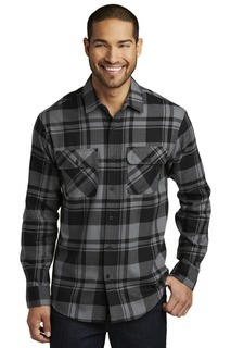 Port Authority Woven Shirts for Hospitality ® Plaid Flannel Shirt.-Port Authority