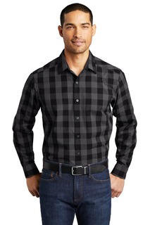 Port Authority Everyday Plaid Shirt.-