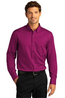 Port Authority Long Sleeve SuperPro React Twill Shirt.-