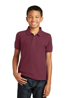 Port Authority® Youth Core Classic Pique Polo.-Port Authority