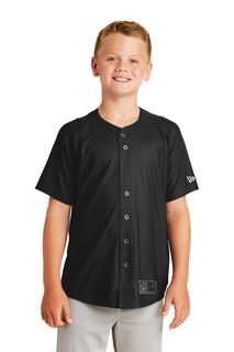 New Era ® Youth Diamond Era Full-Button Jersey.-