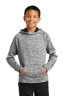 Sport-Tek® Youth PosiCharge® Electric Heather Fleece Hooded Pullover.-Sport-Tek