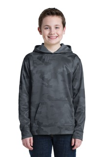 Sport-Tek® Youth Sport-Wick® CamoHex Fleece Hooded Pullover.-