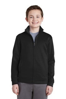 Sport-Tek® Youth Sport-Wick® Fleece Full-Zip Jacket.-Sport-Tek