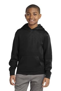Sport-Tek Youth Sport-Wick Fleece Hooded Pullover.-
