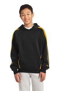 Sport-Tek® Youth Sleeve Stripe Pullover Hooded Sweatshirt.-