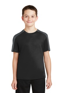 Sport-Tek® Youth PosiCharge® Competitor Sleeve-Blocked Tee.-