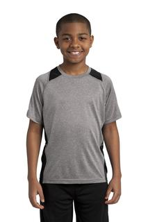 Sport-Tek® Youth Heather Colorblock Contender Tee.-