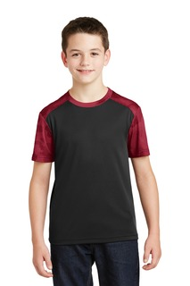 Sport-Tek® Youth CamoHex Colorblock Tee.-