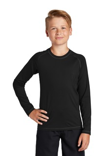 Sport-Tek ® Youth Long Sleeve Rashguard Tee.-