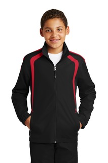 Sport-Tek® Youth Colorblock Raglan Jacket.