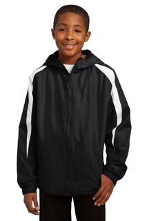 Sport-Tek® Youth Fleece-Lined Colorblock Jacket.-