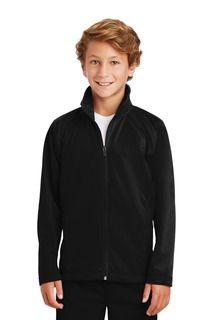 Sport-Tek Youth Tricot Track Jacket.-