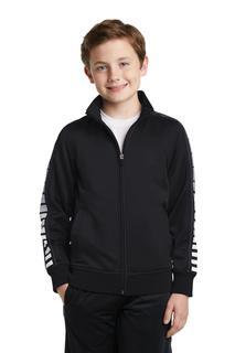 Sport-Tek® Youth Dot Sublimation Tricot Track Jacket.-Sport-Tek