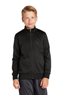 Sport-Tek ® Youth Tricot Track Jacket.-