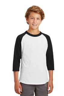 Sport-Tek® Youth Colorblock Raglan Jersey.-