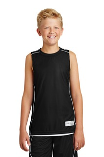 Sport-Tek® Youth PosiCharge® Mesh Reversible Sleeveless Tee.-
