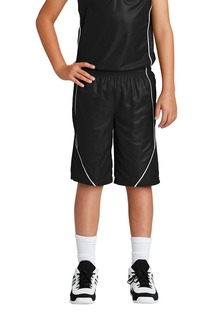 Sport-Tek Youth PosiCharge Mesh Reversible Spliced Short.-