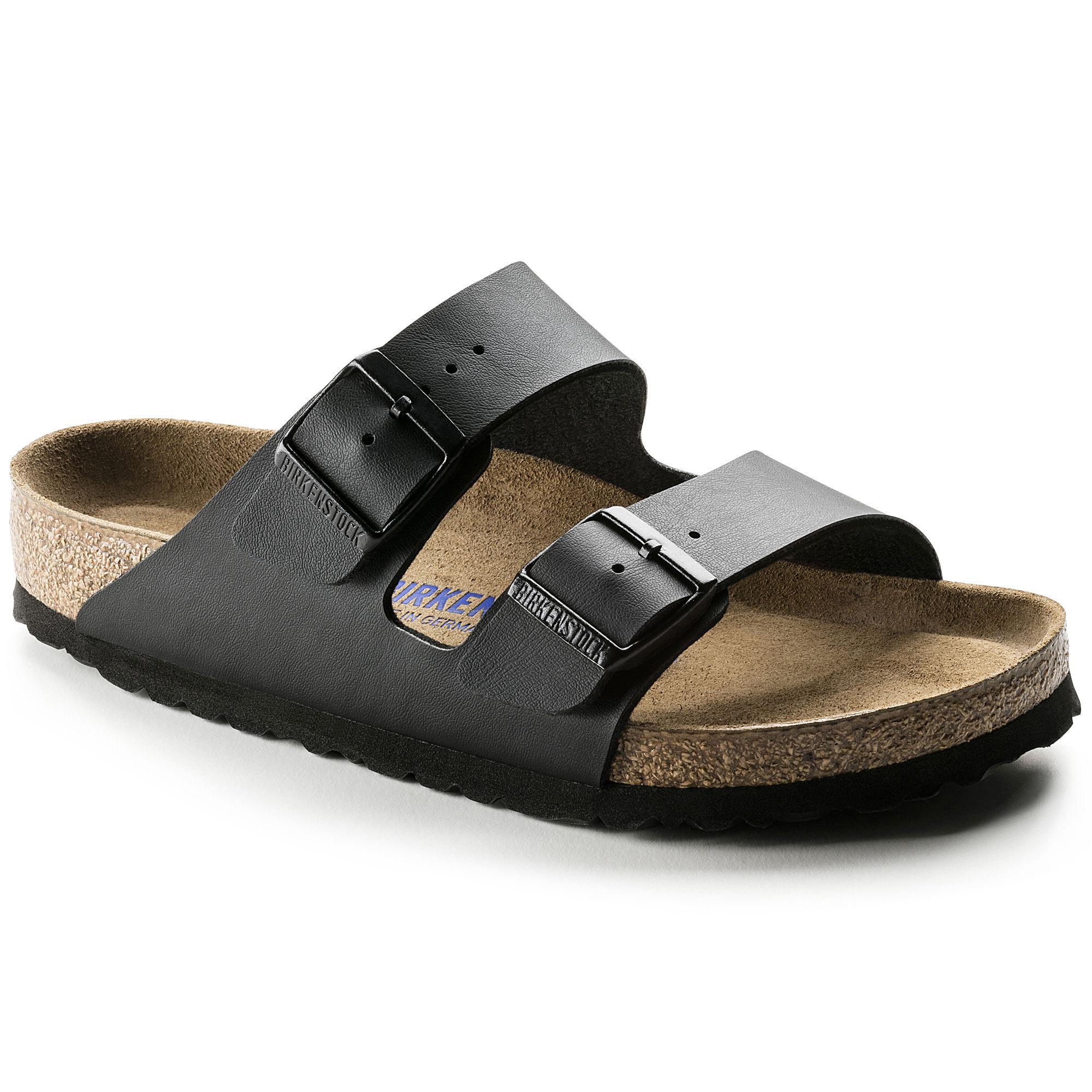 Birkenstock Arizona Soft Footbed Black Birko-Flor Sandals
