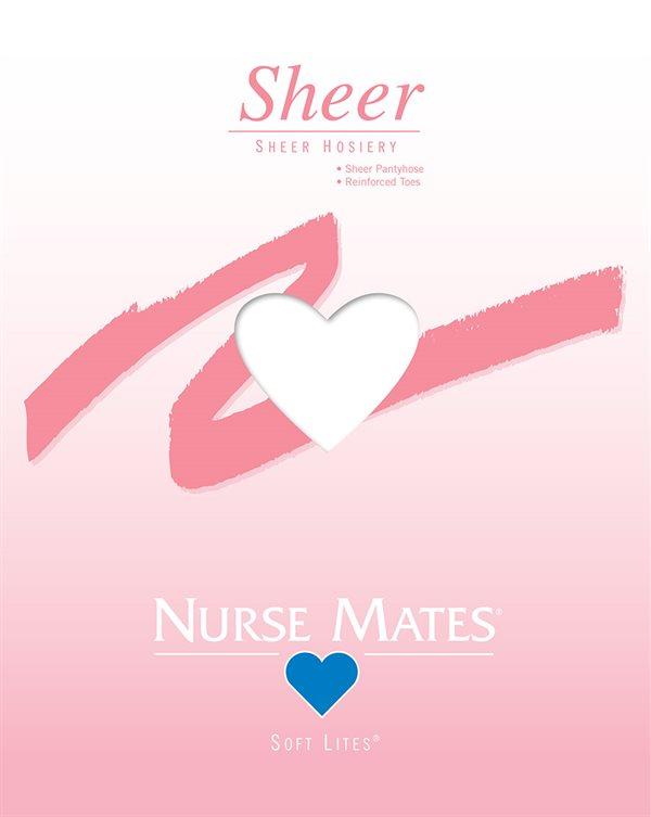Nurse Mates White Soft Lites Sheer Pantyhose-NMA