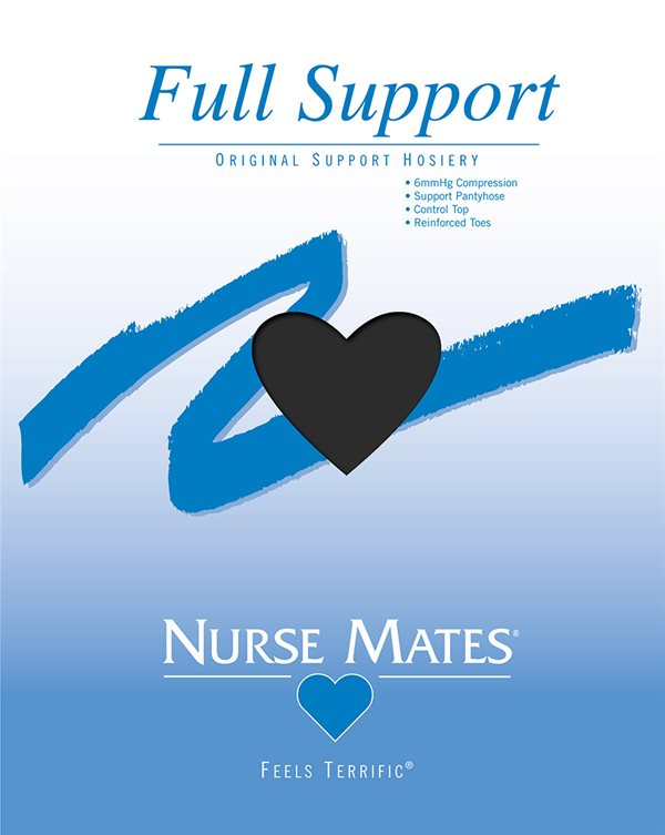 Nurse Mates Jet Black Full Support Pantyhose-
